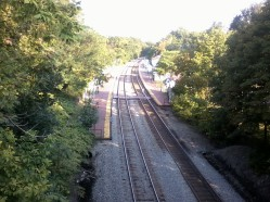 I took this from the bridge and figured these must be the tracks that run behind my house.