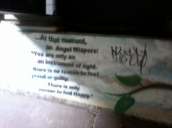More sick graffiti up the cliff.