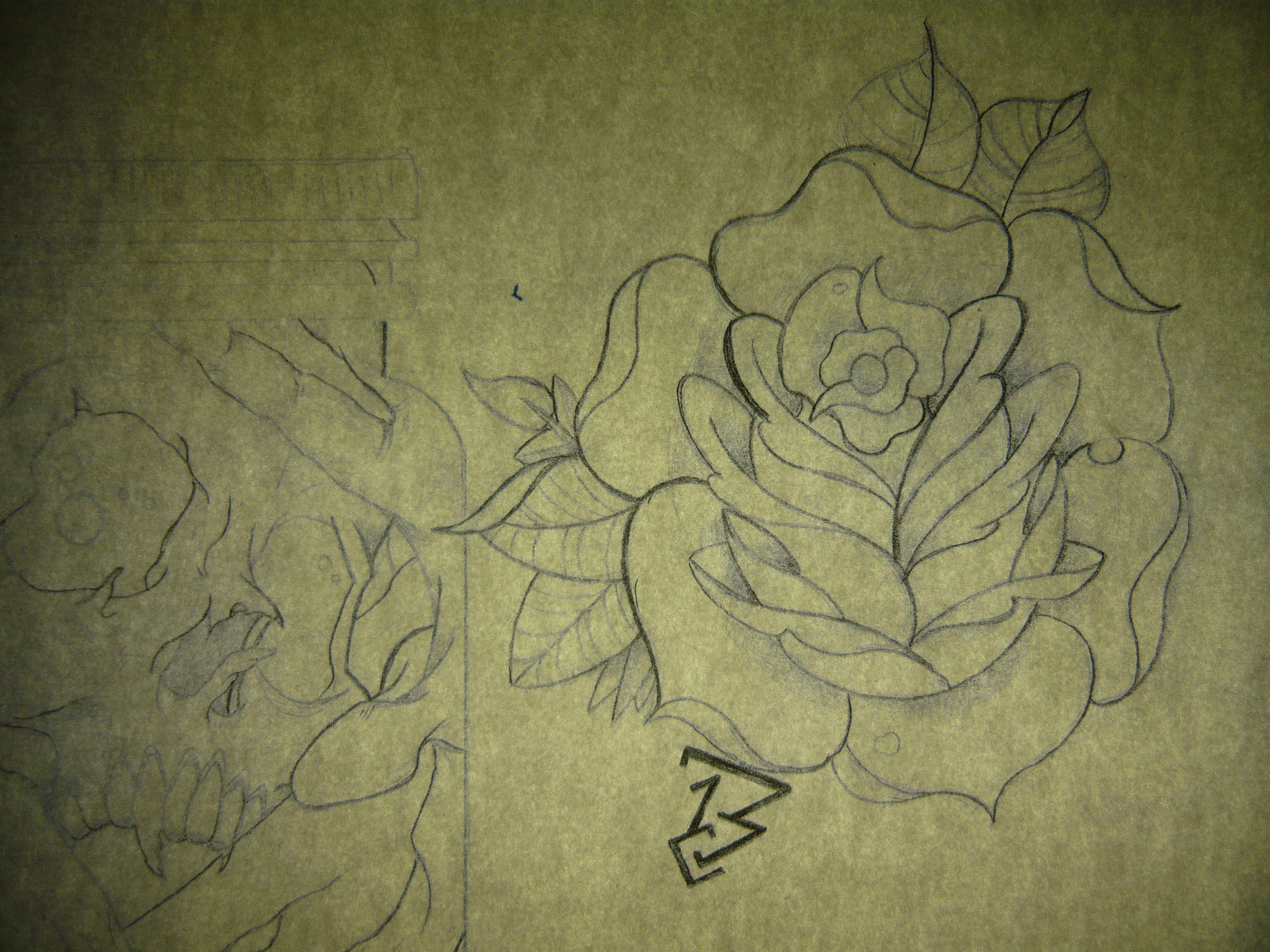 Traditional Rose Tattoo Bobby Rotten