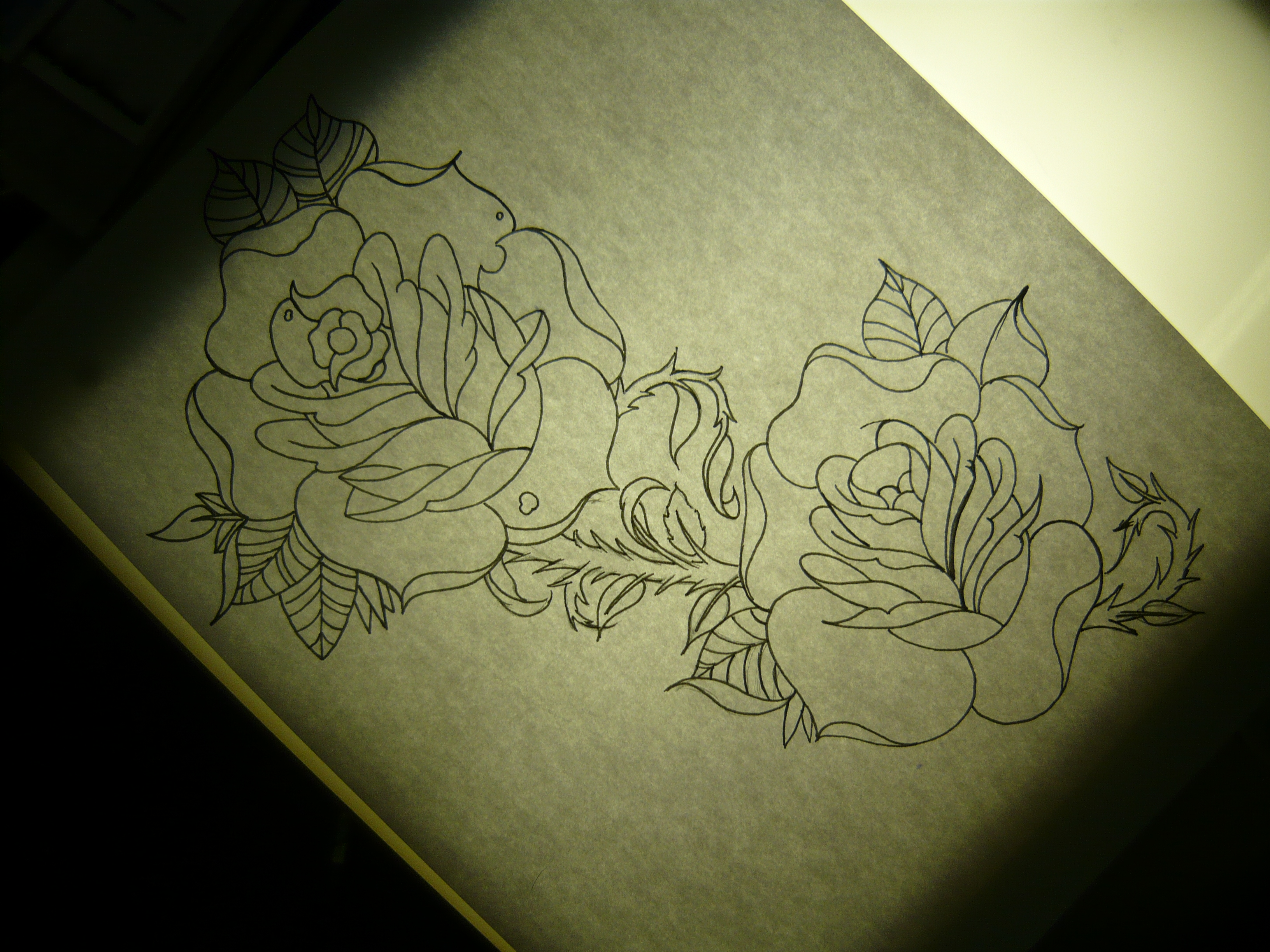 And actually ended up tattooing the sketch I did a mere 7 hours earlier as
