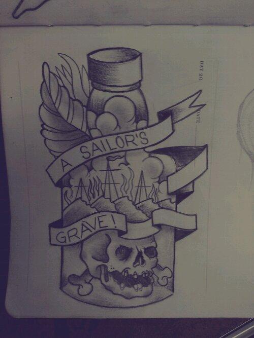 Sketch 20 a sailor s grave bobbyrotten com for Sailors grave tattoo gallery