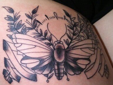 Traditional Moth Tattoo: Session I